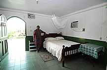 Room at Savannah Inn in Lethem Guyana